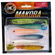 Виброхвосты LJ 3D Series MAKORA SHAD TAIL 4.0in(10,00)/MIX1 6шт.