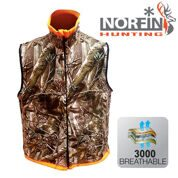 Жилет флис. Norfin Hunting REVERSABLE VEST PASSION/ORANGE  р.S - XXXL